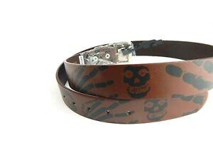 Mens-Brown-Skulls-Hands-Skeleton-Design-Metal-Buckle-Belt-New
