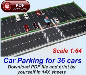 164 paper model kit in pdf files to print car parking for 36 hw image is loading 1 64 paper model kit in pdf files solutioingenieria Images