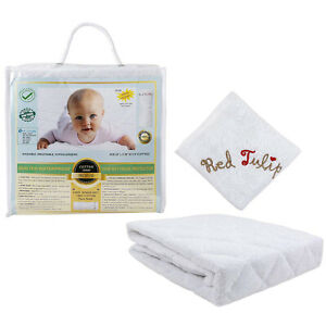 Crib Mattress Protector Waterproof Sturdy Fitted Baby ...