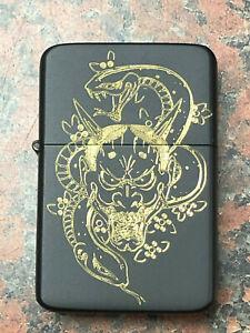 MAJIMA-GORO-LIGHTER-matte-black-finish-with-Gift-Box-PS4-yakuza-tattoo-symbol