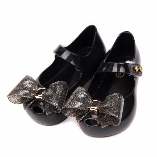 Mini Melissa Minimemon Butterfly Bow Sandals Kids Child Toddler US Size 6-12