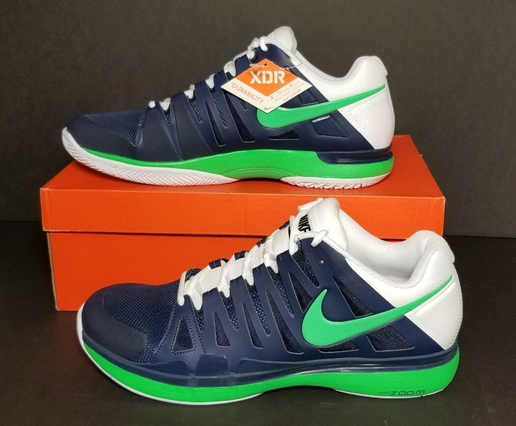 NIKE MEM'S ZOOM VAPOR 9 TOUR 488000 431 SIZE 14 & 15 NEW IN BOX NAVY GREEN WHITE