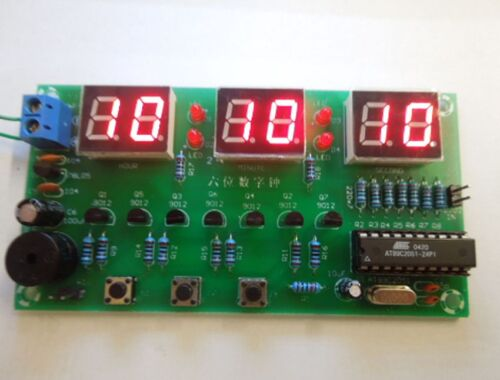 SCM Digital Electronic Clock Kit 6 Bits Electronic Production Suite DIY Kits Efo