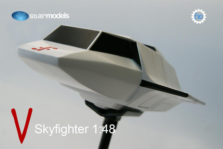 V Skyfighter The Visitors 1 48 .Skyfighter de V Los Visitantes maqueta 1 48