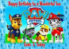 personalised birthday card paw patrol daughter son grandson grandaughter
