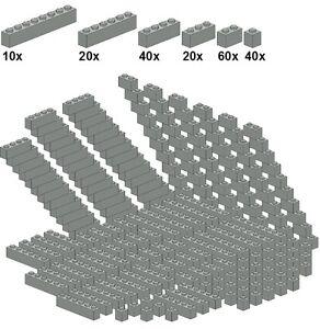 Lego-Bricksy-039-s-Bascis-Lightgray-A48-Basicsteine-altes-hellgrau-schmal