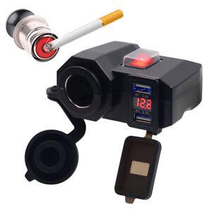 PT-Cn-Moto-Impermeabile-12V-GPS-Accendisigari-Doppia-USB-Presa-Char
