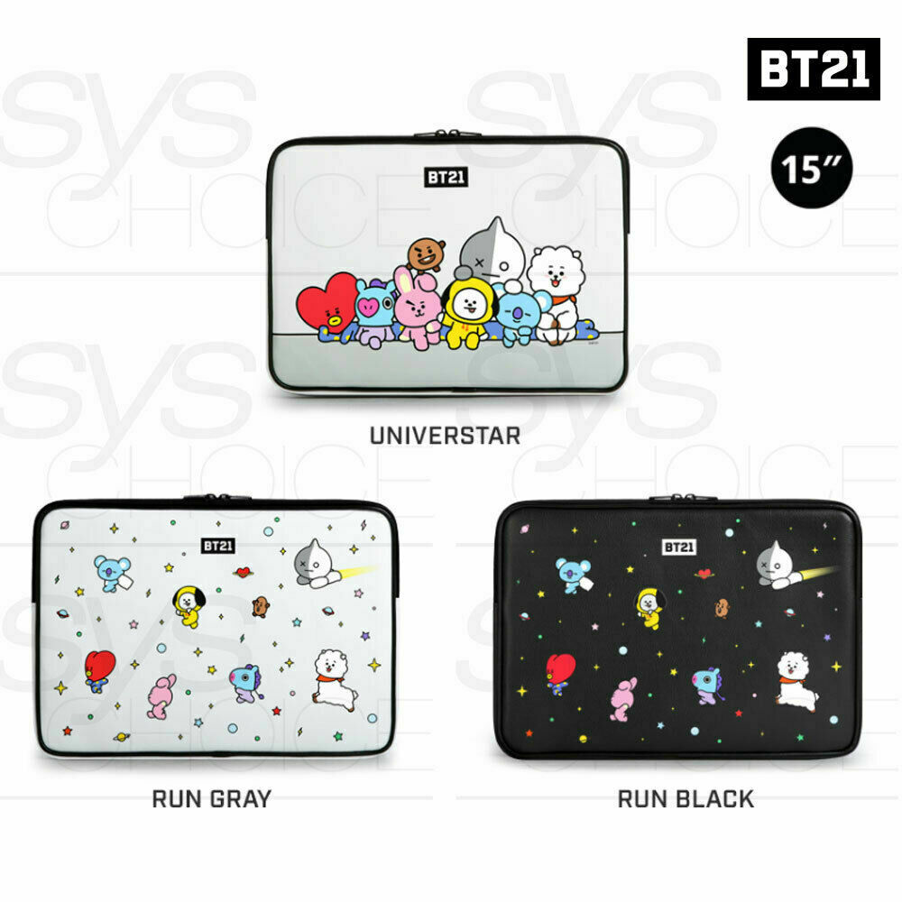 BTS BT21 Official Authentic Goods 15  PU Laptop Sleeve 3TYPE  + Tracking