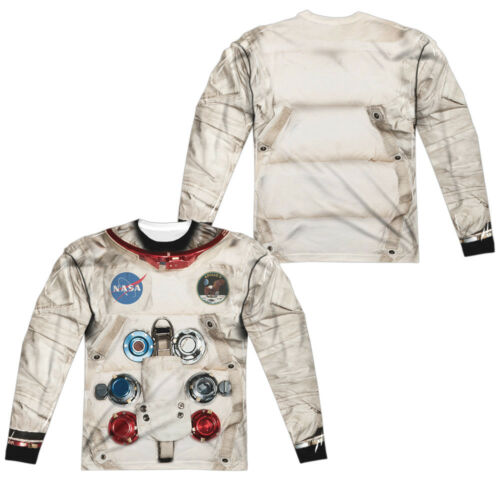 Astronaut Spacesuit Costume Long Sleeve T-shirt Front /& Back