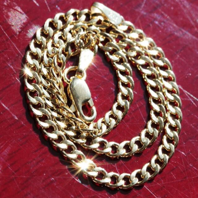 10k yellow gold Cuban link bracelet 7.0