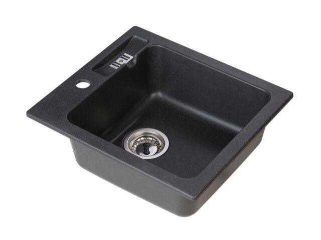 LUCCIO PA10 spüle Küche Einbauspüle Spültisch Spülbecken Granit schwarz