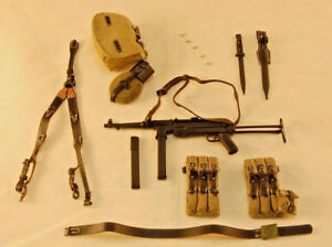 Details about DiD Baldric WW2 German SS Panzer Gunner MP40 w/ Pouches,  Harness, Gear 1/6 Scale