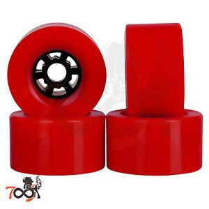 7b28dd70 Cal 7 90mm 78A Longboard Flywheel Skateboard Red Wheels + Abec 7 Bearings