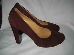 auth hermes paris plaform shoes heels pumps sz 38 eur