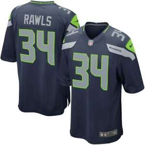 Details about Nike Seattle Seahawks Thomas Rawls Game Jersey - Navy #34