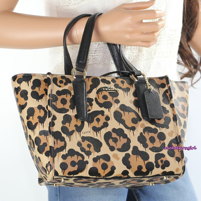 Nwt Coach Ocelot Leopard Print Mini Crosby Crossbody Bag 36321 Wild Beast New