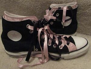 Converse-Chuck-Taylor-AS-Black-Pink-Hi-Tops-Sneakers-109006F-Size-8-Men-10-Women