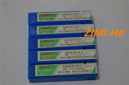 SWT 2pcs  11mm 3Flute HSS /& Aluminium End Mill Cutter CNC (11×12×26×83mm×3F )