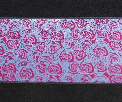 """""""Beautiful roses"""" transfer nail art foil - 1 Meter"""