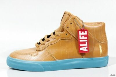 "new ALIFE 'Everybody Hi"" Barneys New York brown leather athletic BOOTS shoes 7"