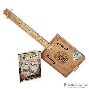 hinkler electric blues box slide guitar kit cigar box guitar beginner package ebay. Black Bedroom Furniture Sets. Home Design Ideas