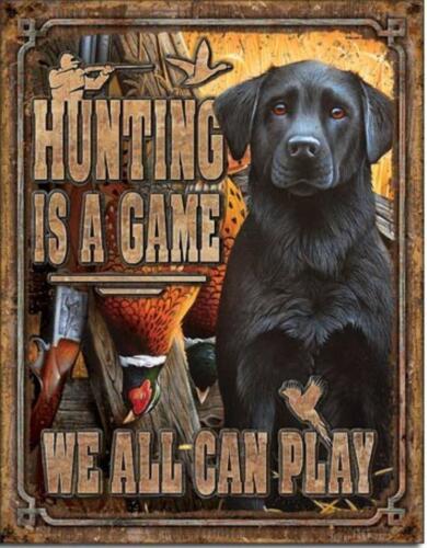 Duck Hunting Game Pheasant Bird Black Labrador Dog Cabin Bar Picture Sign Gift