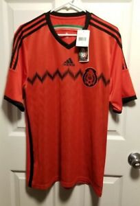 7ce3b84a1 Adidas ClimaCool Mexico 2014 World Cup Red Away Short Sleeve Soccer ...