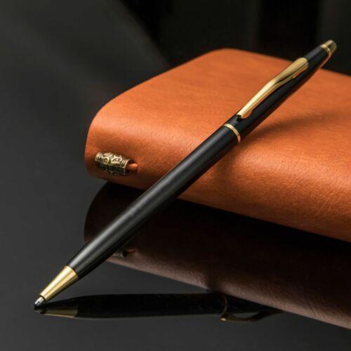 Luxury Full Metal Ballpoint Pen 1mm Black Ink Gel Pen Office Writing Stationery