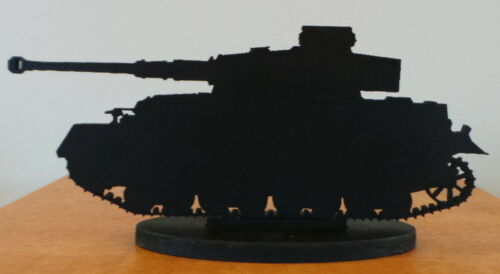 Army Forces Tank Silhouette Figure ~ Standing 17cm long by 8cm tall