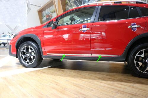 Chrome Body Side Molding Cover Trim Garnish fits Subaru XV//Crosstrek 2018 2019