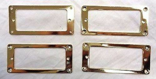 Gold Mini Flat Humbucker Rings Set