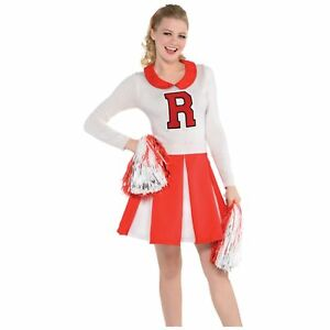 Cheerleader Outfit American Sports Team Ladies Womens Adults Fancy Dress Costume