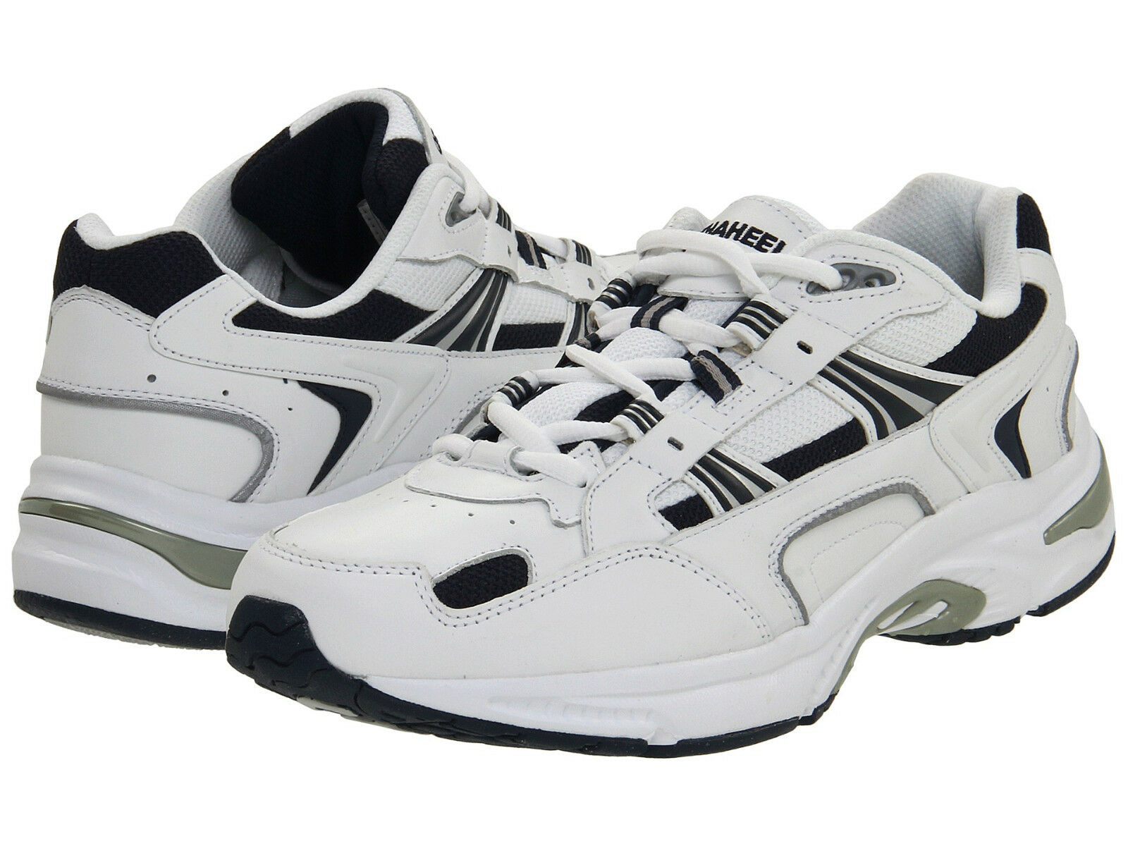 Men Vionic Orthaheel Walker 23MWALK White Navy Leather 100% Authentic Brand New