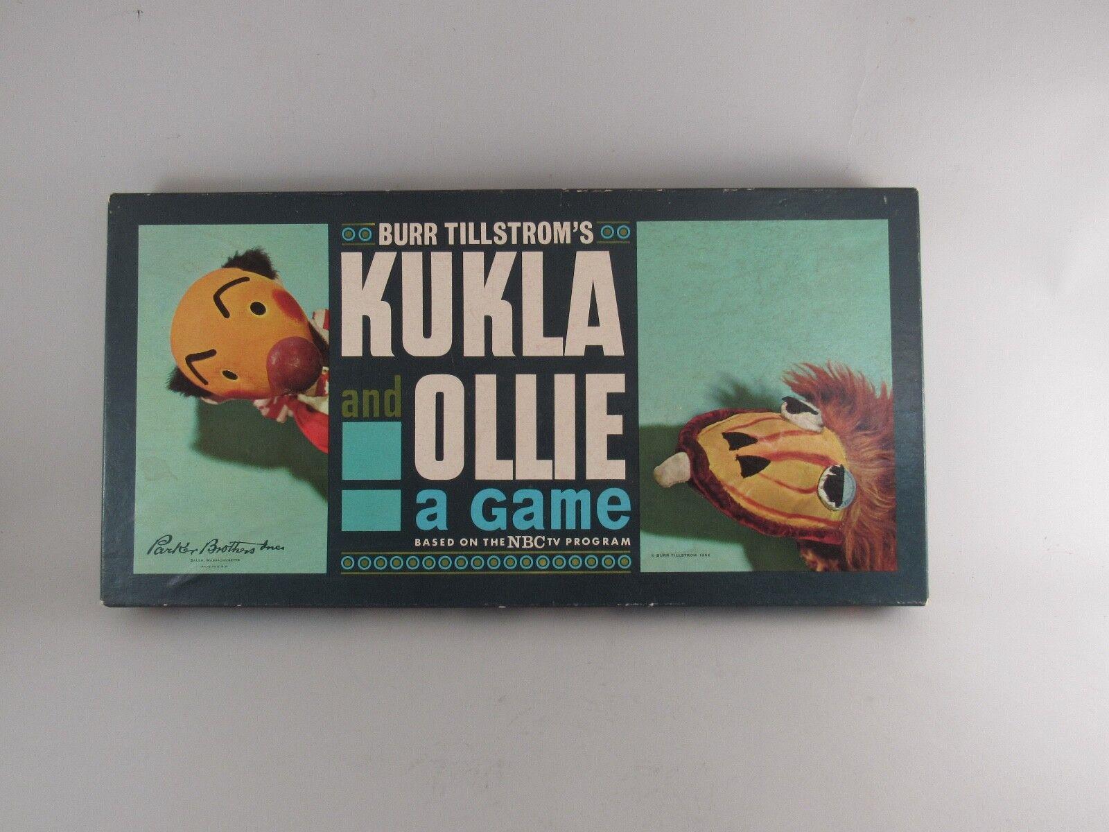 Vintage Kukla et Ollie un jeu 1962 Parker Bros. Pièces scellé en plastique