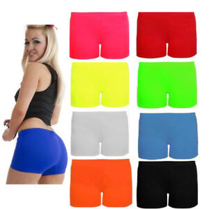 Children-039-s-Gymnastic-Shorts-Kids-Hot-Pants-Neon-Colour-Gymnasium-dance-wear