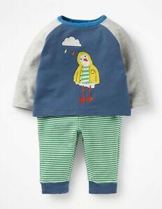 NWT MINI BABY BODEN BOYS APPLIQUE PLAY SET SEAGULL BIRD RAINCOAT CLOUD