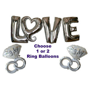 Engagement-Party-Decorations-Love-Heart-Balloons-amp-Silver-I-Do-Wedding-Ideas