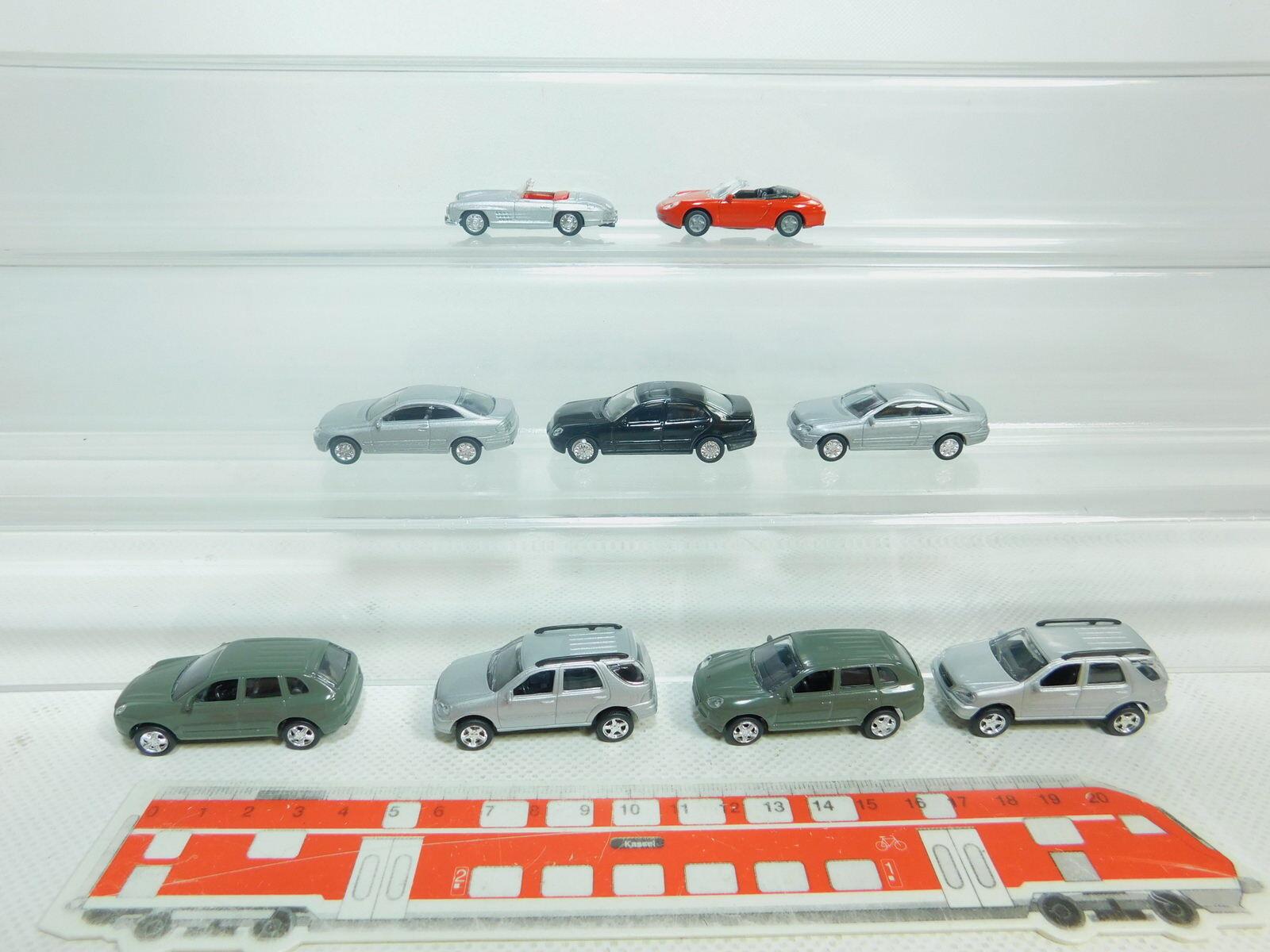 Bn182-0, 5  9x haut débit h0 1 87 87 87 métal-voiture  Porsche  Mercedes-Benz MB, Neuw 47d826