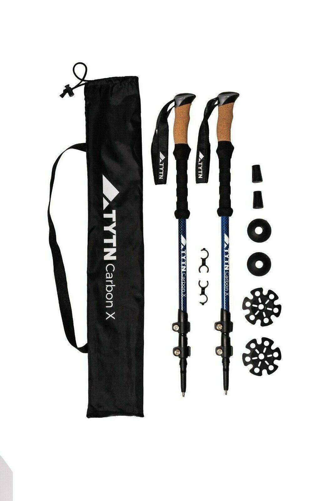TYTN Trekking poles lightweight Carbon X - Quicklock, for Hiking Nordic Waliking
