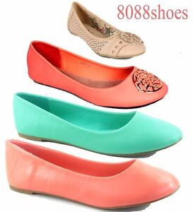 Women's Cute Causal Slip On Round Toe Ballet Flat Shoes Size 6 - 11 NEW