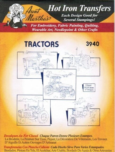 Farm Tractors 3940 Aunt Martha\'s Hot Iron Embroidery Transfer ...