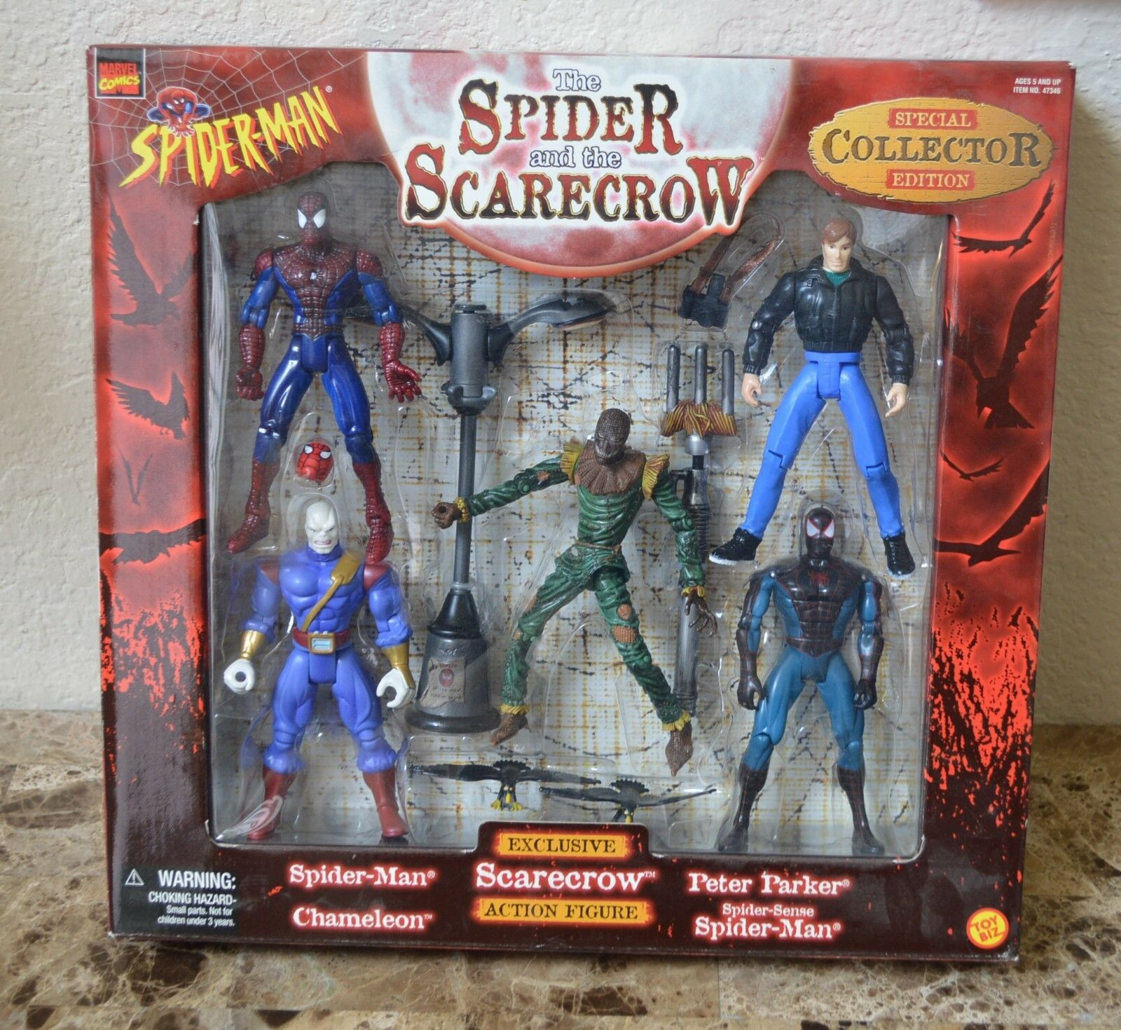 Marvel Comics Collector Edition Spider and Scarecrow Set of 5 MISB Toy Biz 1998