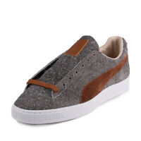 Puma Womens Suede Angora X Mi Jp Limestone Gray/leather Brown 357437-03 Size 8