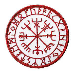 Ecusson-patche-Vegvisir-symbole-Viking-patch-Vikings-brode-thermocollant