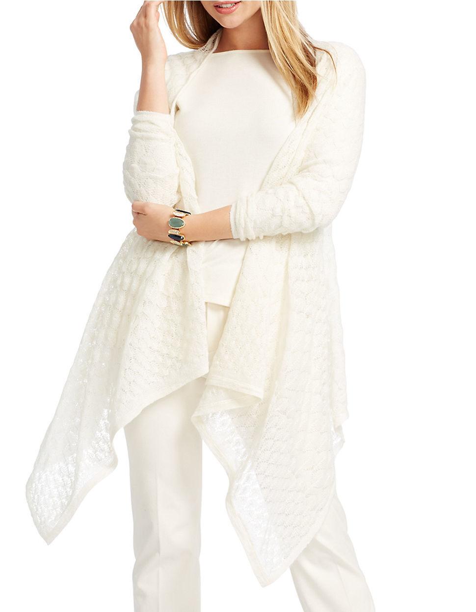 NWT LAUREN RALPH LAUREN Women's  Pointelle Bubble-knit Cardigan Sz PXS S