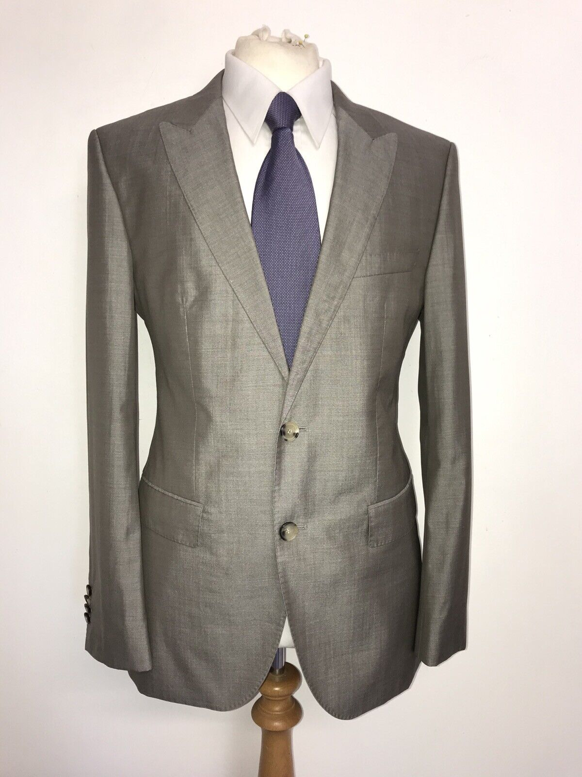 Farah Slim Fit Arnos Tuxedo Suit Trouser BNWT W36 L32 Black