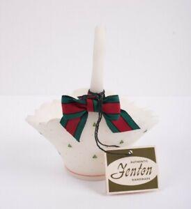 Fenton-1970s-Christmas-Tree-Basket-Hand-Painted-T-Watson-Hand-Painted-Vintage