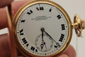 ANTIQUE-ORIGINAL-PERFECT-14K-GOLD-LONGINES-MARK-AMAZING-POCKET-WATCHES