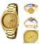 Seiko-5-Classic-Gold-Dial-Couple-039-s-Gold-Plated-Stainless-Steel-Watch-Set thumbnail 2