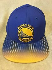 87f86c42a2d Golden State Warriors Authentic Snapback Hat Adidas Cap Two Tone Blue Gold  EUC